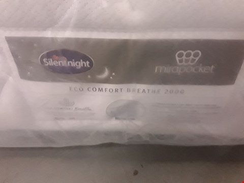 Lot 165 DESIGNER BAGGED 135CM SILENTNIGHT MIRAPOCKET ECO COMFORT BREATHE 2000 MATTRESS
