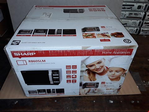 Lot 8094 SHARP 25L 900W FLAT TRAY COMBI MICROWAVE RRP £189.99