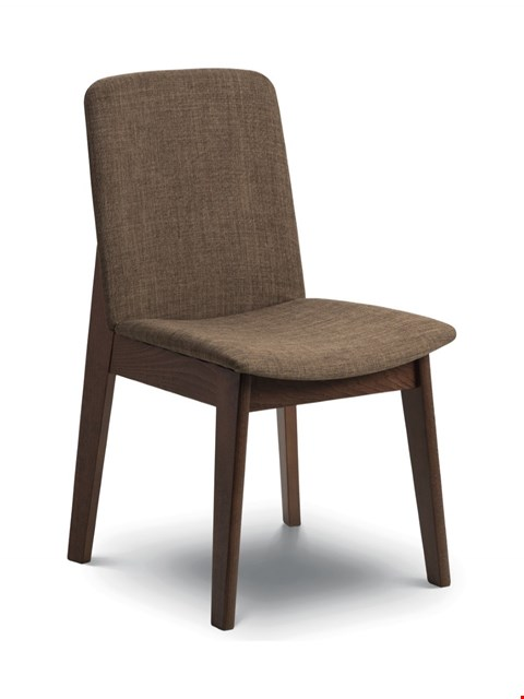 Lot 2087 BOXED GRADE 1 KENSINTON DINING CHAIR WALNUT/CAPPUCCINO ( 1 BOX )