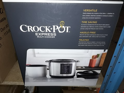 Lot 1972 CROCK-POT EXPRESS PRESSURE COOKER CSC051, 12-IN-1 PROGRAMMABLE MULTI-COOKER