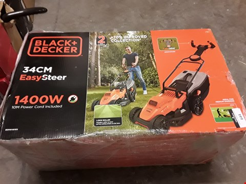 Lot 644 BLACK & DECKER 34CM EASY STEER 1400W CORDED LAWNMOWER