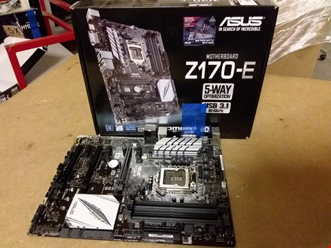 Lot 899 ASUS Z170-E INTEL Z170 DDR4 ATX MOTHERBOARD - BLACK/GREY