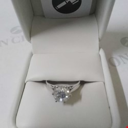 Lot 13 PLATINUM SINGLE STONE RING SET WITH A DIAMOND WEIGHING +1.53CT RRP £5250.00