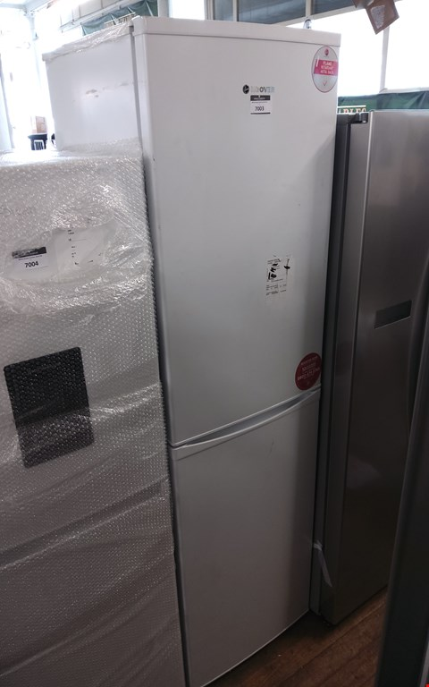 Lot 7003 HOOVER HFF195WK WHITE TALL FRIDGE FREEZER
