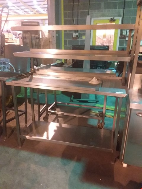 Lot 4017 STAINLESS STEEL FOOD PREPARATION UNIT WITH SHELVING