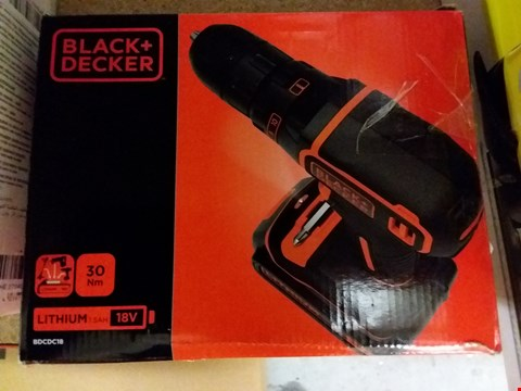 Lot 8361 BLACK + DECKER BDCDC18 DRILL DRIVER