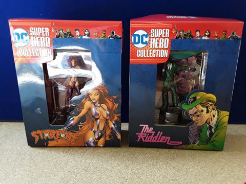 Lot 5058 TWO BOXED DC SUPER HERO COLLECTION MODELS, INCLUDING THE RIDDLER AND STARFIRE