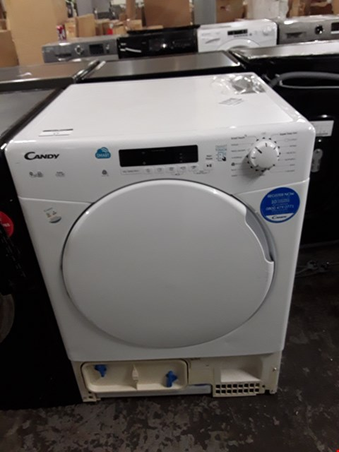Lot 17 CANDY 9KG CONDENSER TUMBLE DRYER IN WHITE - CS C9DF-80