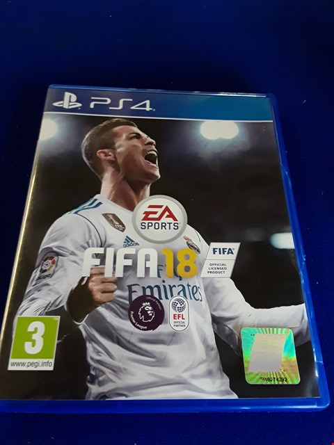 Lot 7629 FIFA 18 PLAYSTATION 4 GAME