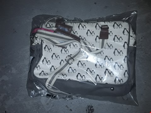 Lot 53 PINK LINING YUMMY MUMMY CHANGING BAG - PENGUIN LOVE RRP £79.99