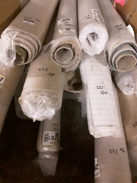 Lot 221 LOT OF 10 ASSORTED ROLLED CARPETS TO INCLUDE BEIGE 4X7M AND ANTHRACITE 4X3.5M