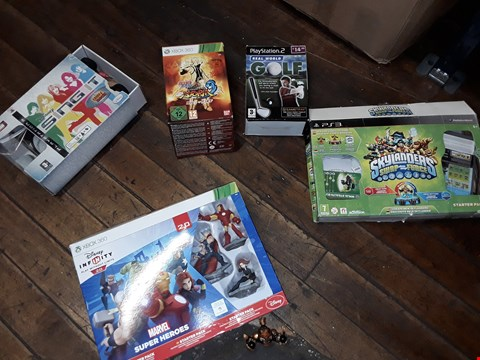 Lot 9121 A LOT OF 5 ASSORTED ITEMS TO INCLUDE,  XBOX 360 MARVEL SUPER HEROES STARTER PACK AND PS3 SKYLANDERS SWAP FORCE ETC