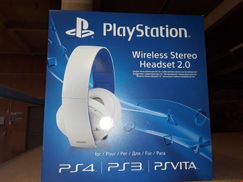 Lot 22 BRAND NEW BOXED PLAYSTATION WIRELESS STEREO HEADSET 2.0 FOR PS4 , PS3 AND PSVITA