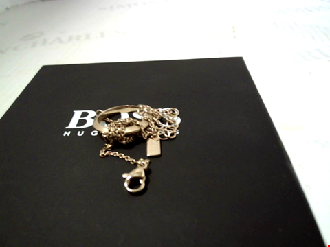 Lot 5529 BOSS OPHELIA REVERSIBLE ETERNITY GOLD PLATED STAINLESS STEEL SWAROVSKI CRYSTAL NECKLACE RRP £98.00