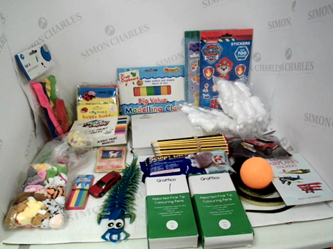Lot 3052 LOT OF ASSORTED TOYS & COLLECTIBLES TO INCLUDE: PAW PATROL & PEPPA PIG STICKERS, STAEDTLER SCHOOL PENCILS, PLAYWRITE MODELLING CLAY