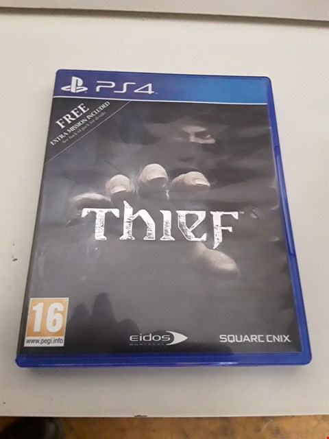Lot 9 THIEF PLAYSTATION 4 GAME