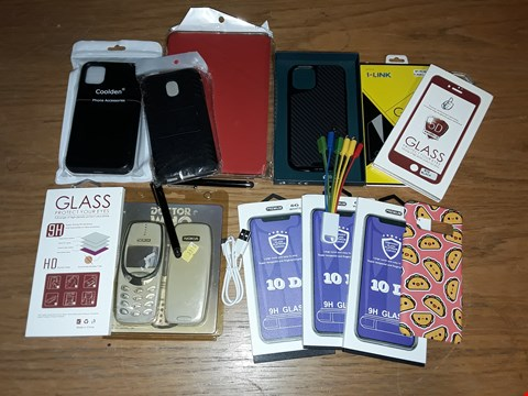 Lot 8106 CRATE OF ASSORTED MOBILE PHONE ACCESSORIES TO INCLUDE CASES, SCREEN PROTECTORS AND CABLES