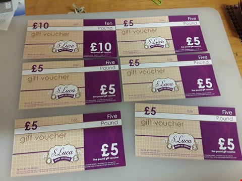Lot 47 11 Assorted gift vouchers to include a.luca and Morrison's total value £70