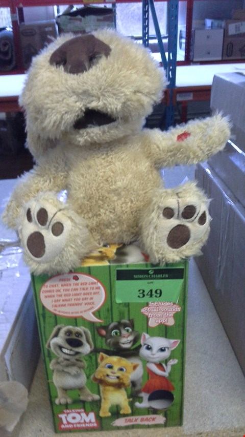 Lot 349 BOXED TALKING TOM AND FRIENDS TALKING BEN RRP £33.00