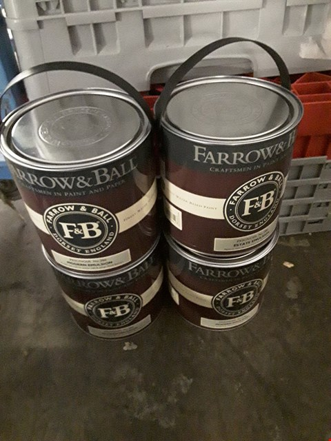 Lot 448 LOT OF 4 FARROW & BALL PEIGNOUR MODERN EMULSION TINS