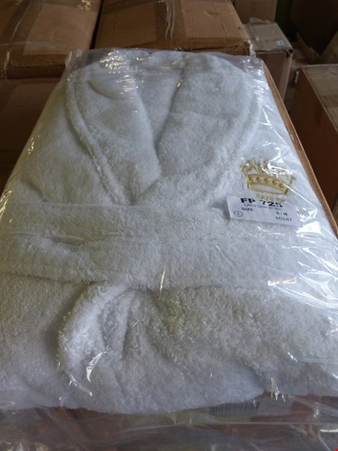 Lot 164 LOT OF APPROXIMATELY 24 LADYSHIP ROBES - WHITE SIZE S/M (4 BOXES)