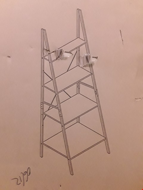 Lot 2494 BOXED GRADE 1 TELFORD INDUSTRIAL BOOKCASE LADDER RRP £59