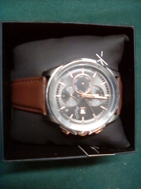Lot 1048 KENNETH COLE NEW YORK BROWN LEATHER WATCH  RRP £29