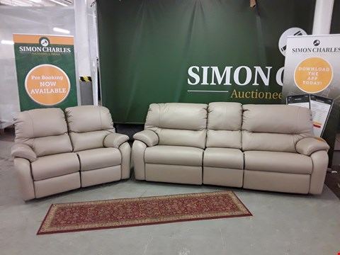 Lot 8001 QUALITY DESIGNER BRITISH MADE WOODEN FRAME MUSHROOM LEATHER ELECTRIC RECLINING 2 AND 3 SEATER SOFAS
