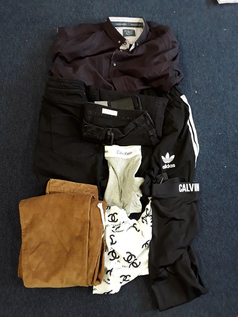 Lot 3 UNPROCESSED CAGE OF APPROXIMATELY 280 ASSORTED DESIGNER AND NON-DESIGNER CLOTHING ITEMS TO INCLUDE SUPERDRY, HOBBS, THE NORTH FACE ADIDAS, CALVIN KLEIN, ALL SAINTS, CHANEL AND ZARA STYLES ETC