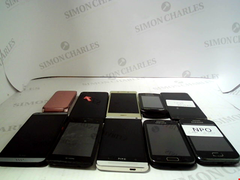 Lot 657 LOT OF APPROXIMATLEY 10 ASSORTED MOBILE PHONES AND SMARTPHONES ETC