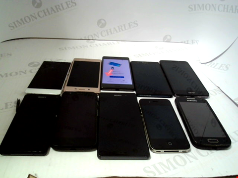 Lot 676 LOT OF APPROXIMATLEY 10 ASSORTED MOBILE PHONES AND SMARTPHONES ETC