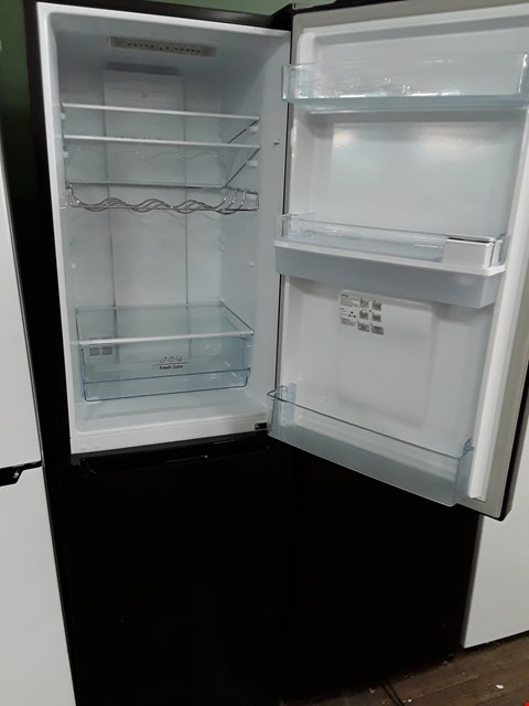 Lot 12060 HISENSE 50/50 BLACK FRIDGE FREEZER WITH WATER DISPENSER
