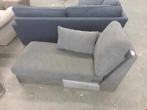 Lot 13 QUALITY BRITISH DESIGNER GREY FABRIC CHAISE SECTION