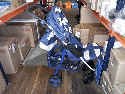 Lot 1566  MY BABIIE BILLIE FAIERS MB30 BLUE STRIPES PUSHCHAIR RRP £119.99