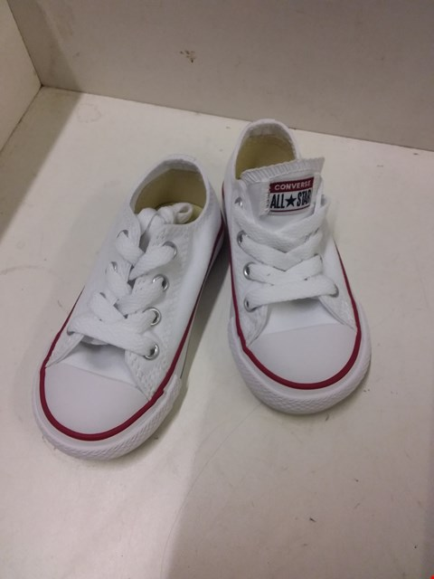 Lot 9047 BOXED CONVERSE ALL STAR LOW TOP INFANT'S CANVAS TRAINERS - WHITE SIZE 6