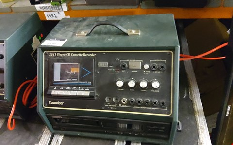 Lot 9919 2241 STEREO CD CASSETTE RECORDER