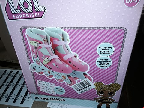 Lot 1678 BOXED GRADE 1 LOL SURPRISES IN LINE SKATES FOR GIRLS PINK RRP £38.99