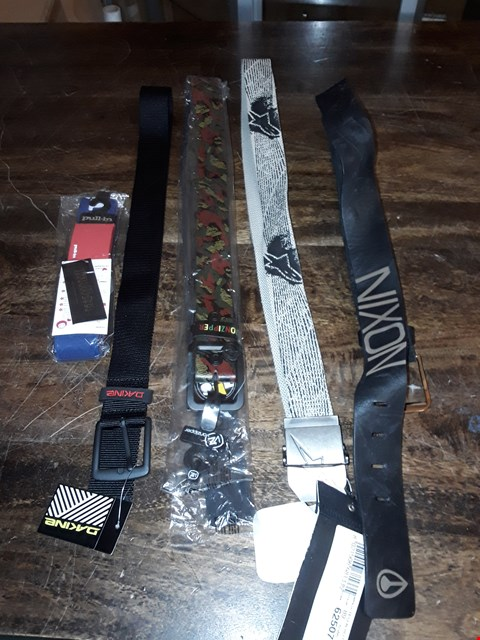 Lot 1709 LOT OF APPROXIMATELY 5 ASSORTED DESIGNER BELTS TO INCLUDE NIXON, DAKINE AND VONZIPPER