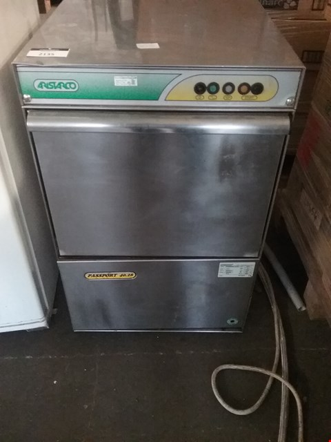 Lot 2135 ARISTARCO GLASSWASHER PASSPORT 40.28