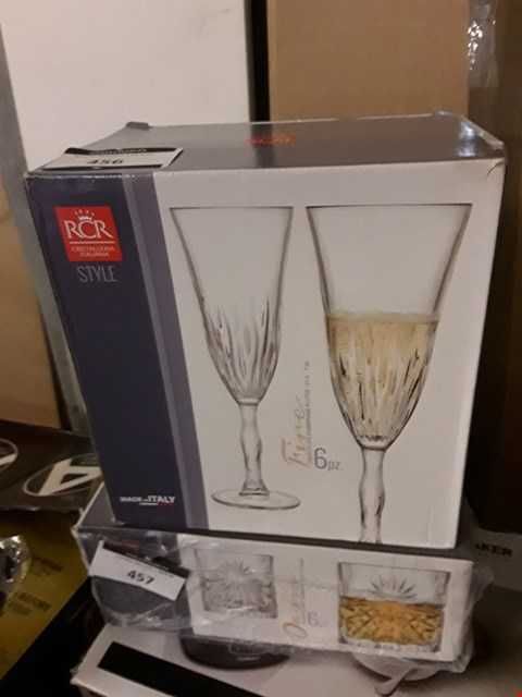 Lot 456 BOXED CHAMPAGNE GLASSES