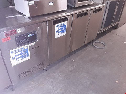 Lot 7 COMMERCIAL STAINLESS STEEL 4 DOOR REFRIGERATION COUNTER
