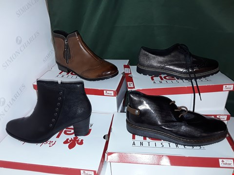 Lot 1066 LOT OF 4 ASSORTED PAIRS OF RIEKER SHOES