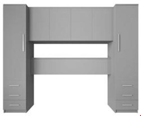Lot 3560 BOXED PRAGUE GREY OVERBED UNIT (4 BOXES) RRP £459.00