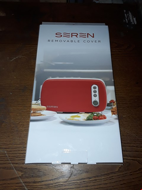 Lot 260 LOT OF 4 SEREN REMOVABLE TOASTER COVER - RED