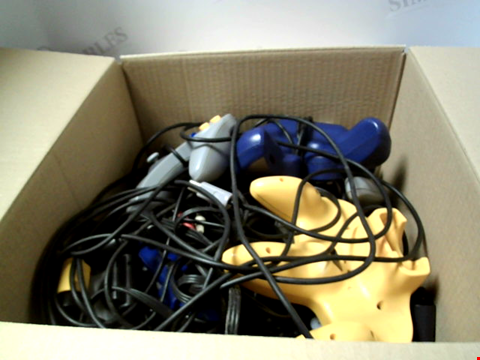 Lot 6230 BOX OF ASSORTED GAME CONTROLLERS ETC