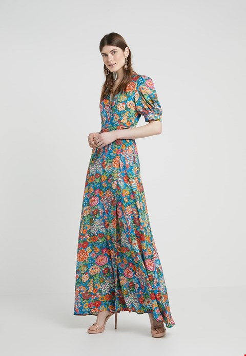 Lot 7045 PERSEVERANCE LONDON ELYSIAN DAY LIBERTY PRINT MULTICOLOURED WRAP GOWN - SIZE 8