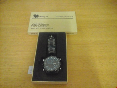 Lot 1572 BOXED INFANTRY STYLE MILITARY ISSUE REVIVAL WATCH