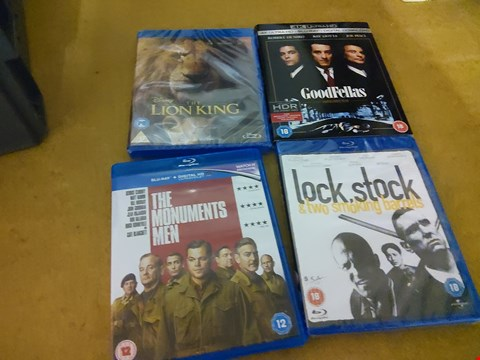 Lot 2582 BOX OF APPROXIMATELY 17 ASSORTED DVDS INCLUDING THE LION KING , GOODFELLAS , BATMAN V SUPERMAN AND BODYGUARD