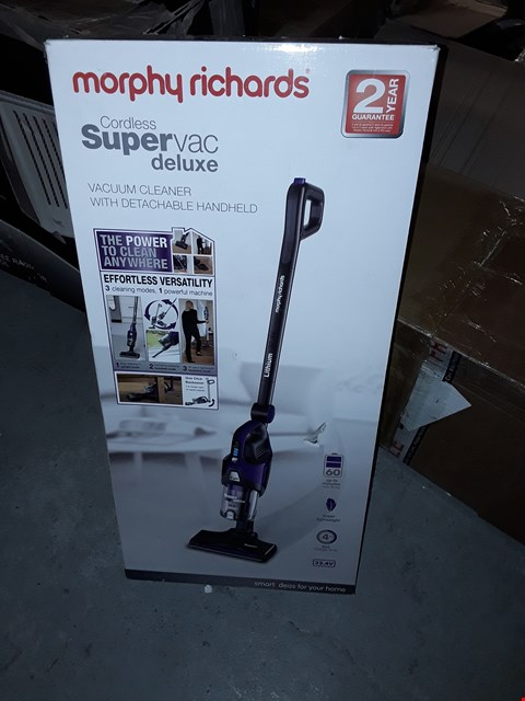 Lot 513 MORPHY RICHARDS SUPER VAC DELUXE VACUUM CLEANER