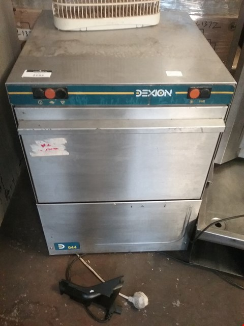 Lot 2133 DEXION 044 UNDECOUNTER GLASSWASHER